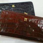 HIRAMEKI Antique croco ガマグチ長財布
