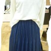 NO INSECT袖折りプルオーバー,変形プリーツスカート